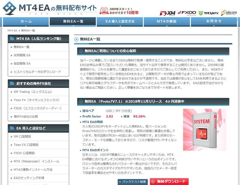 MT4EAの無料配布サイト